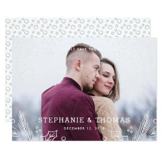 Vinterkrusidullspara daterakortet - frost 12,7 x 17,8 cm inbjudningskort