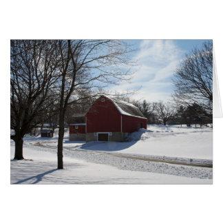 Vinterladugårdkort Hälsningskort