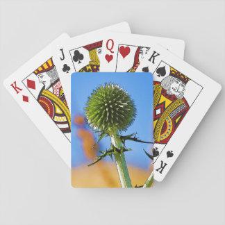 Vintern blommar i Tiberias, Israel som leker kort Casinokort