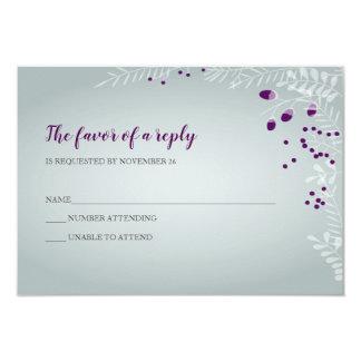 Vintern förgrena sig bröllop OSA 8,9 X 12,7 Cm Inbjudningskort