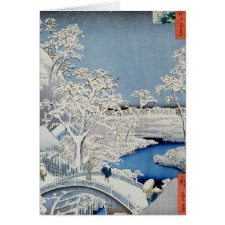 Vintern landskap hälsningskort