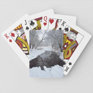 Vintern överbryggar spel kort