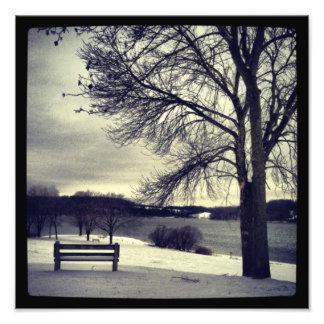 Vintern parkerar fototryck