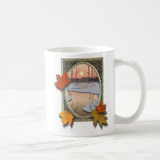 Vintern strömmer kaffemugg