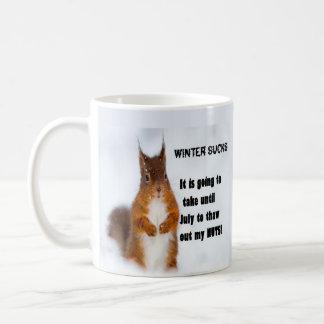 Vintern suger kaffemugg