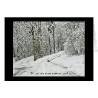 Vinterplats - Notecard Hälsningskort