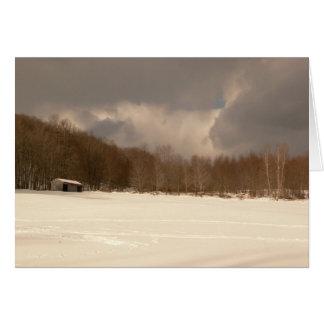VinterPole ladugård Hälsningskort
