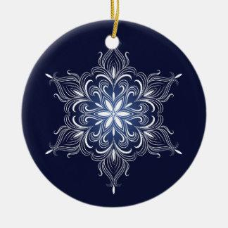 VinterSnowflakeprydnad Julgransprydnad Keramik