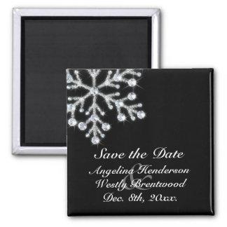 VinterSnowflakespara datum magneter