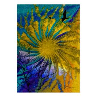 Vintersol - konstnärhandelkort visit kort