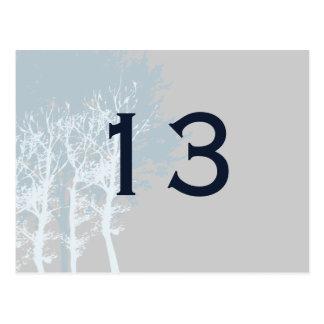 Vinterträd som gifta sig bordsnummer vykort