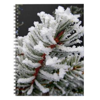Vinterträdanteckningsbok Anteckningsbok Med Spiral
