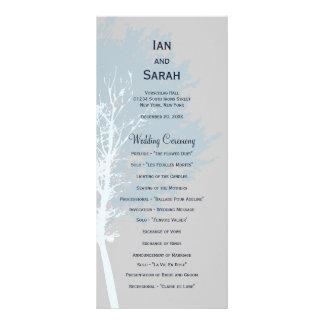 Vinterträdbröllopsprogram Reklamkort