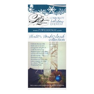 Vinterunderland för bröllop som P2 dekorerar paket Reklamkort