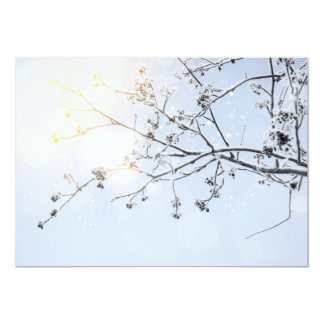 Vinterunderland vid Uname_ 12,7 X 17,8 Cm Inbjudningskort