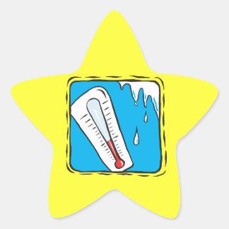 Vinterväder Stjärnformat Klistermärke