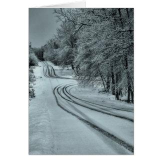 Vinterväg Hälsningskort