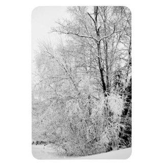 Vinterviter Magnet