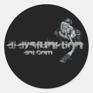 Vinyl_Records DJ DysFunktion, pricker Com Runt Klistermärke