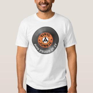 Vinylknarkare - och stolt av det t shirt