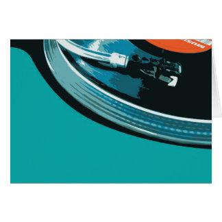 VinylmusikTurntable Hälsningskort