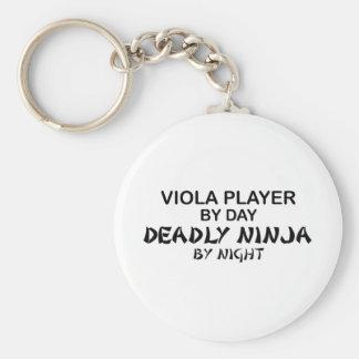 Viola dödliga Ninja vid natt Rund Nyckelring