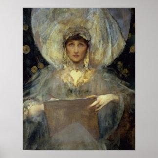 Violet hertiginna av Rutland Poster