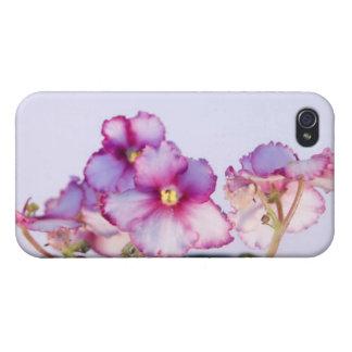 Violeten blommar det Matte fullföljandefodral för iPhone 4 Fodraler