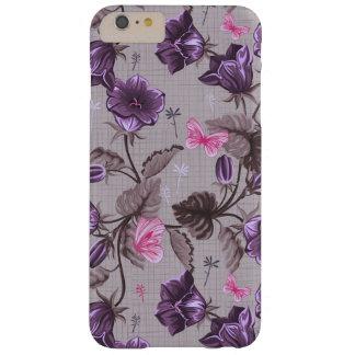 violeten räcker klockor och rosafjärilar mönster barely there iPhone 6 plus skal