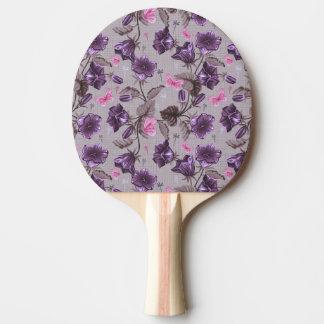 violeten räcker klockor och rosafjärilar mönster pingisracket