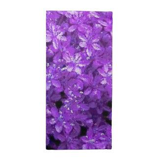 Violets målade servetter