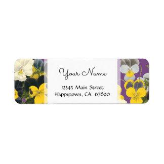 Violets och blom- beställnings- adressetiketter