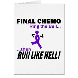 Violett band för finalChemo springa mycket - Hälsningskort