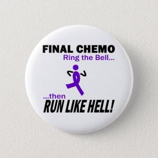 Violett band för finalChemo springa mycket - Standard Knapp Rund 5.7 Cm