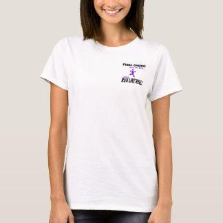 Violett band för finalChemo springa mycket - T-shirts