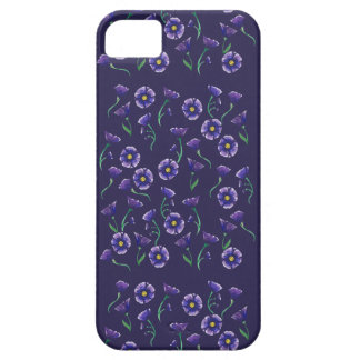Violett lilablomma barely there iPhone 5 fodral