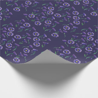 Violett lilablomma presentpapper