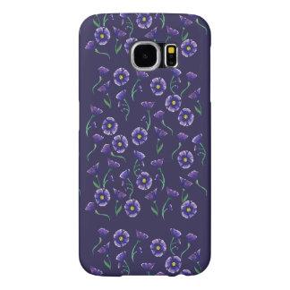 Violett lilablomma samsung galaxy s6 fodral