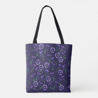 Violett lilablomma tygkasse
