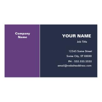 Violett mörk - blåttelegant set av standard visitkort