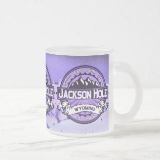 Violett mugg för Jackson Hole färglogotyp