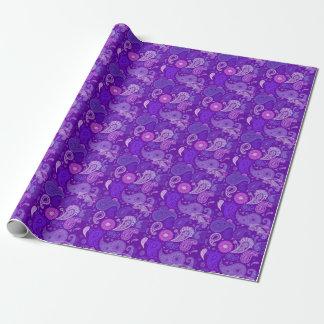 Violett paisley mönster presentpapper