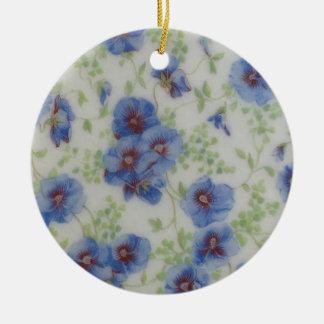 Violett prydnad för vildblomma julgransprydnad keramik