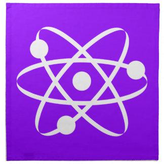 Violett purpurfärgad Atom Tygservett