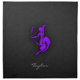 Violett purpurfärgad Sagittarius Tygservett