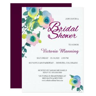 Violett söt ärtablommigtmöhippa 11,4 x 15,9 cm inbjudningskort