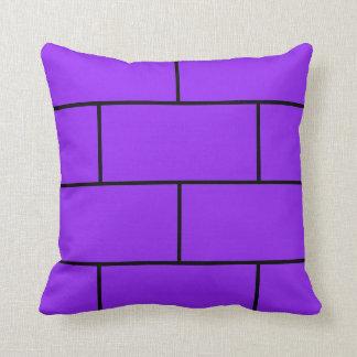 Violett tegelstendekorativ kudde