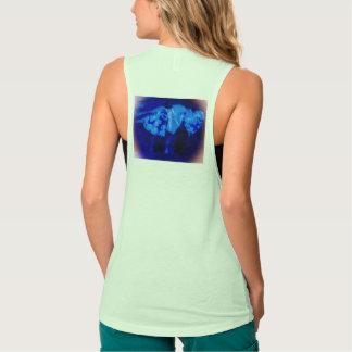 violetta hjärtakvinna för kalla blått design för brottarlinne