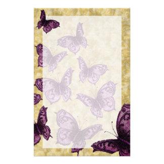 (Violetta) kungliga fjärilar, Brevpapper