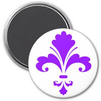 Violetta lilor Fleur-de-lis Magnet
